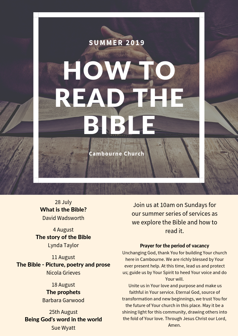 Cambourne Church : Summer 2019 - How to read the Bible